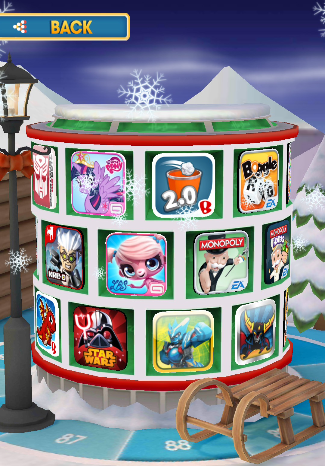 Hasbro Arcade Winter Theme
